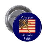 Vote su botón católico de la fe