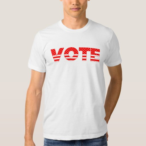Vote T-shirt with red stars and stars T-Shirt