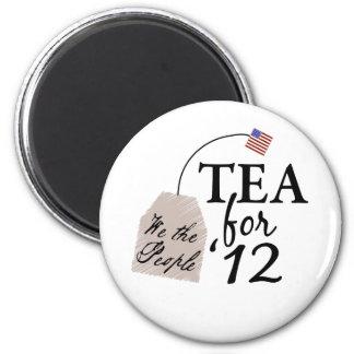 Vote Tea Party 2012 2 Inch Round Magnet