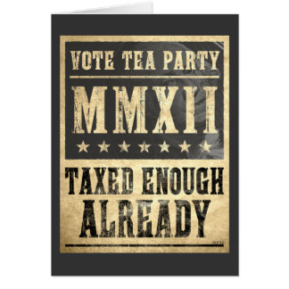 Vote Tea Party Card