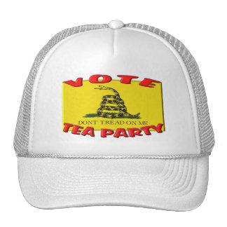 VOTE TEA PARTY (Don't Tread On Me Flag) Trucker Hat