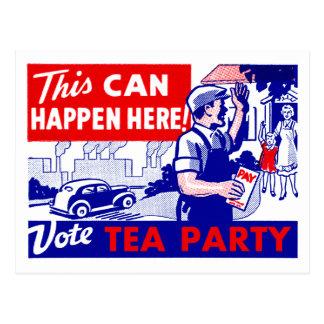 Vote Tea Party Postcard