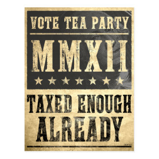 Vote Tea Party Postcard
