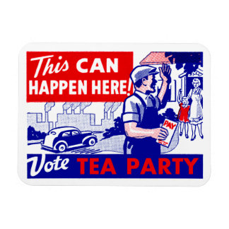 Vote Tea Party Rectangular Photo Magnet