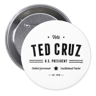 Vote Ted Cruz 2016 Button