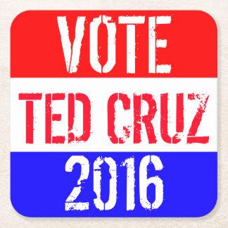 Vote Ted Cruz 2016 Square Paper Coaster