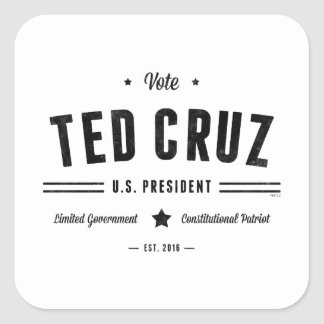 Vote Ted Cruz 2016 Square Sticker