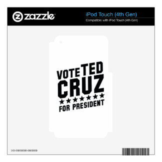 Vote Ted Cruz iPod Touch 4G Decal