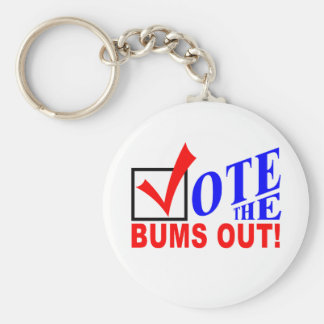 Vote the Bums Out! keychain