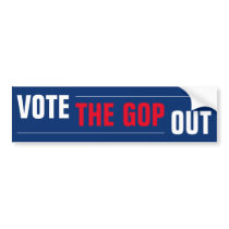 Vote the GOP Out Red White Blue Bumper Sticker