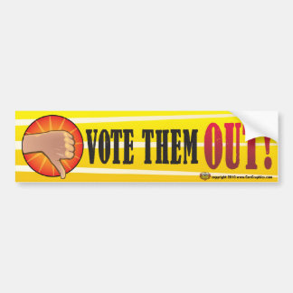 Vote the REST of  Them Out  2012 Car Bumper Sticker