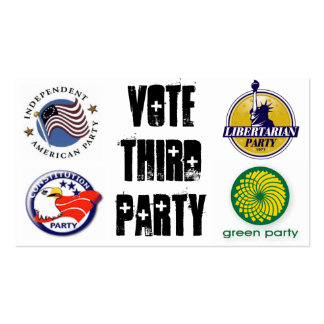 Vote Third Party: Revolution Double-Sided Standard Business Cards (Pack Of 100)