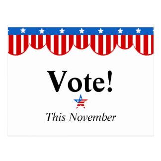 Vote This November Postcard