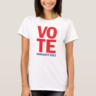Vote Tim Pawlenty 2012 Ladies Shirt
