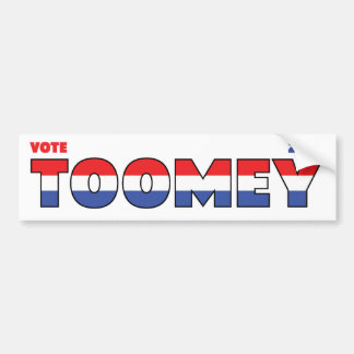 Vote Toomey 2010 Elections Red White and Blue Car Bumper Sticker