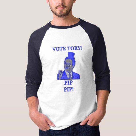 Vote Tory Pip Pip 3/4 Sleeve Raglan T-Shirt