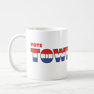 Vote Townsend 2010 Elections Red White and Blue Coffee Mug