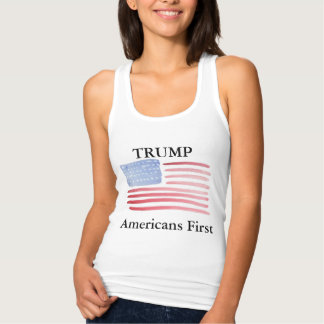 Vote Trump Americans First Tank Top