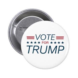 Vote Trump for President 2016 Pinback Button