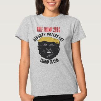 VOTE TRUMP | Naughty Voters Get Trump Of Coal GRAY T-Shirt