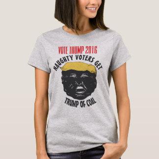 VOTE TRUMP   Naughty Voters Get Trump Of Coal GRAY T-Shirt