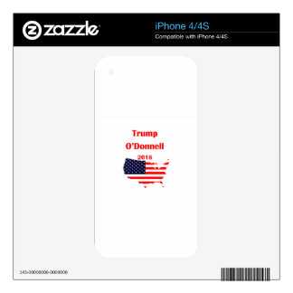 Vote Trump O'Donnell in 2016! iPhone 4 Skins