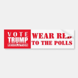 Vote Trump Wear Red To The Polls Political Bumper Sticker