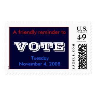 VOTE, TuesdayNovember 4, 2008 Stamp