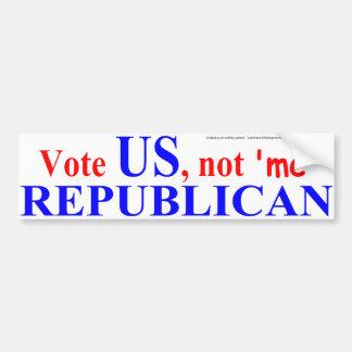 Vote US Car Bumper Sticker