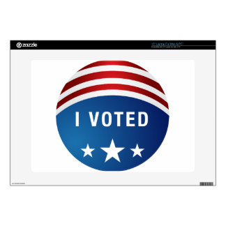 "Vote USA Political Election Button Icon 15"" Laptop Decal"