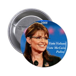 Vote Values(Round) Pinback Button