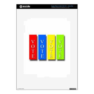 Vote Vote Vote Vote iPad 3 Decals
