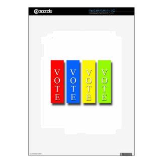 Vote Vote Vote Vote Decal For The iPad 2