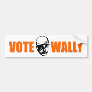 Vote Wally Bumpersticker Bumper Sticker
