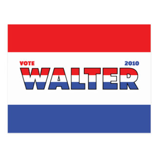 Vote Walter 2010 Elections Red White and Blue Postcards