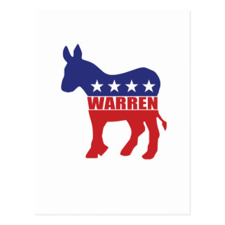 Vote Warren Democrat Postcard