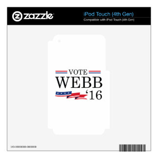 Vote Webb 2016 Decals For iPod Touch 4G