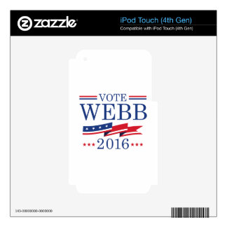 Vote Webb 2016 iPod Touch 4G Decal