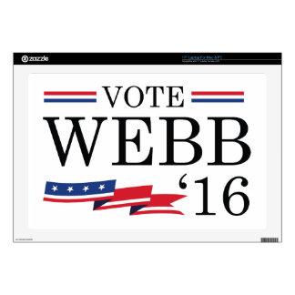 Vote Webb 2016 Laptop Skins
