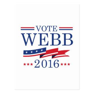 Vote Webb 2016 Postcard
