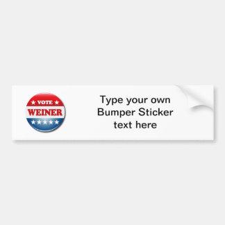 VOTE WEINER CAR BUMPER STICKER