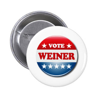 VOTE WEINER PINBACK BUTTON