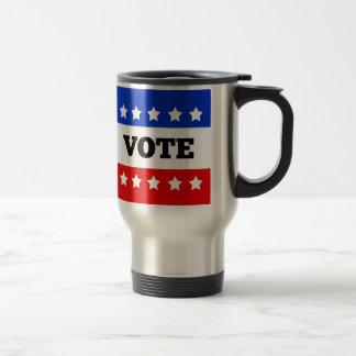 Vote, White Stars Travel Mug