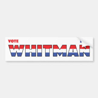 Vote Whitman 2010 Elections Red White and Blue Bumper Sticker