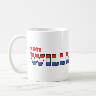 Vote Williamson 2010 Elections Red White and Blue Coffee Mug