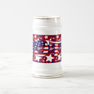 Vote with Stars and Stripes - 18 Oz Beer Stein