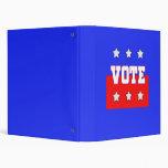 Vote with Stars Binders