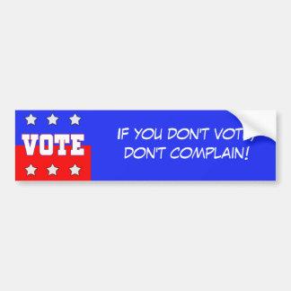 Vote with Stars Car Bumper Sticker