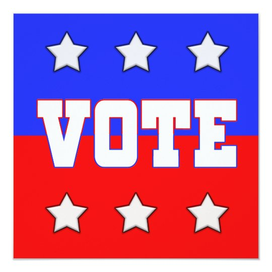 Vote with Stars Card
