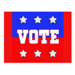 Vote with Stars Post Card